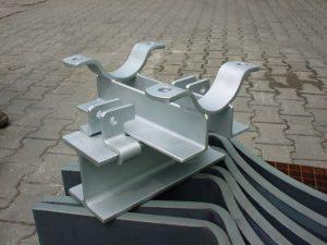 Rohrlager-klemmsystem