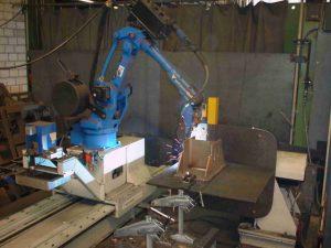 Swiss robot welding machine